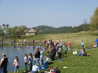 Great Day for Fishing at Indian Rock Vineyards!